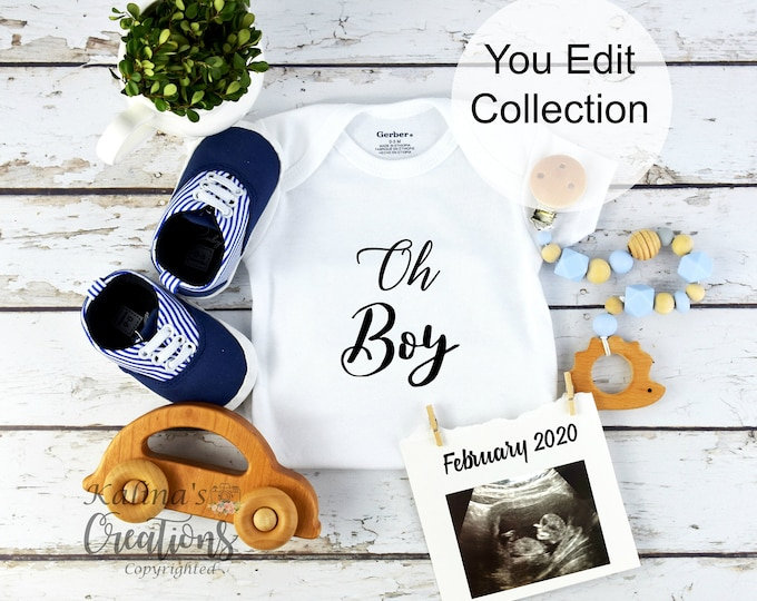 Baby Boy Gender Reveal for Social Media Announce
