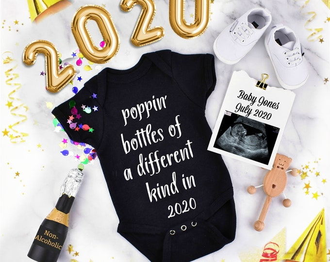 New Years Baby announcement - Digital Pregnancy Reveal for Social Media
