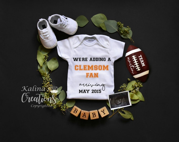 Football Baby Announcement for Social Media Announce