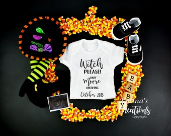 Halloween Baby Announcement for Social Media