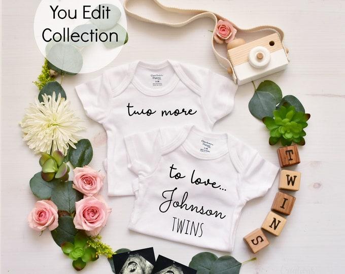 Twins Pregnancy Announcement - Social Media Announce