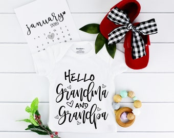 Grandparents Baby Onesie Pregnancy Announcement