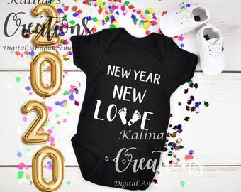 New year 2020 Baby Announcement for social media