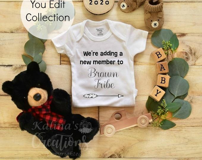 Woodland Pregnancy Announcement Social Media Announce