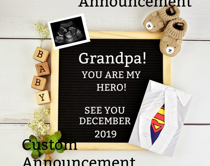 Grandfather Baby Reveal - Printable OR Social Media
