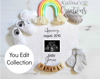 Rainbow Pregnancy Announcement for Social Media