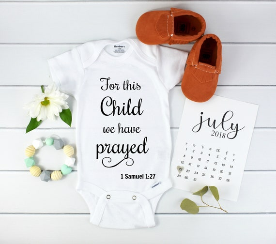 Christian Pregnancy Announcement / Bible Verse Onesie / Scripture Onesie