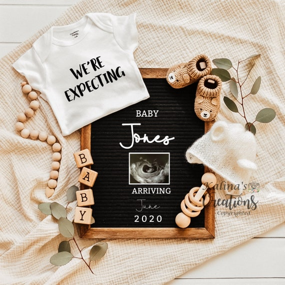 Gender Neutral Pregnancy Announcement Digital - pregnancy announcement digital -  virtual