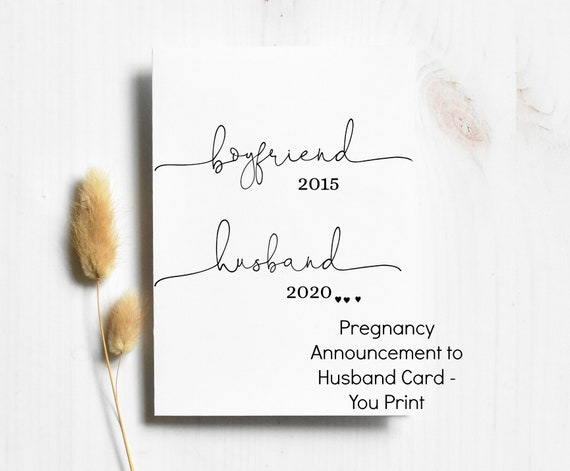 Pregnancy Announcement to Husband Card - You Print