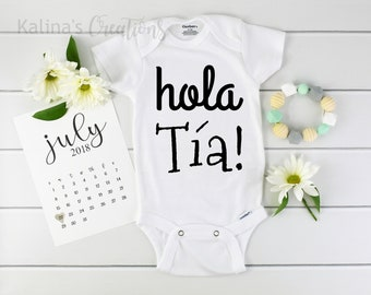 Spanish Aunt Onesie / Baby Announcement Aunt