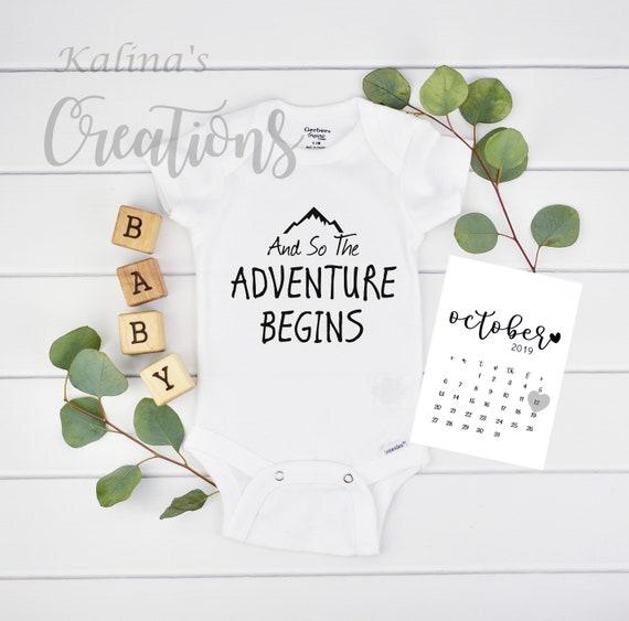 Adventure Onesie Pregnancy Reveal for New Grandparents