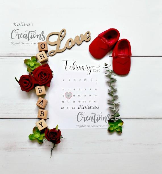 February 2020 Calendar Pregnancy Announcement