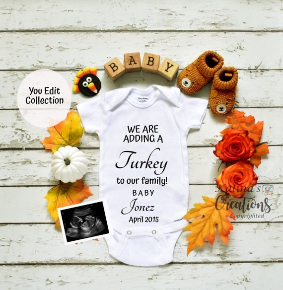 Thanksgiving Baby Announcement Pregnancy Template