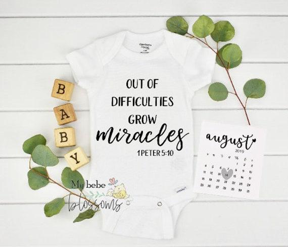 Christian Pregnancy Pregnancy Bodysuit - New Grandparents Baby Announcement Onesie