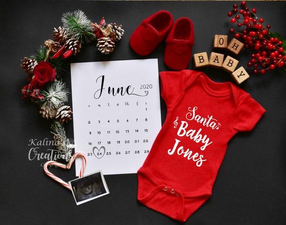 Christmas Digital Baby Announcement - Printable or Social Media