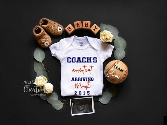 Gender Neutral Baseball Baby Announcement for Social Media or Printable