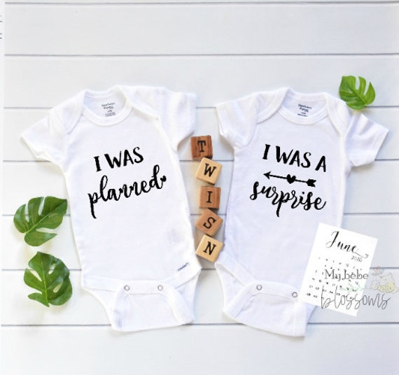 Surprise Twin Onesies Pregnancy Announcement