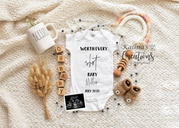IVF Baby Pregnancy Announcement For Social Media Announce - pregnancy announcement digital -  pregnancy announcement to husband - sign