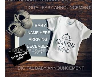 Digital Baby Announcement