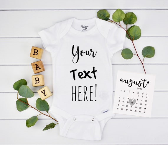 Personalized Onesie for Baby Announcement