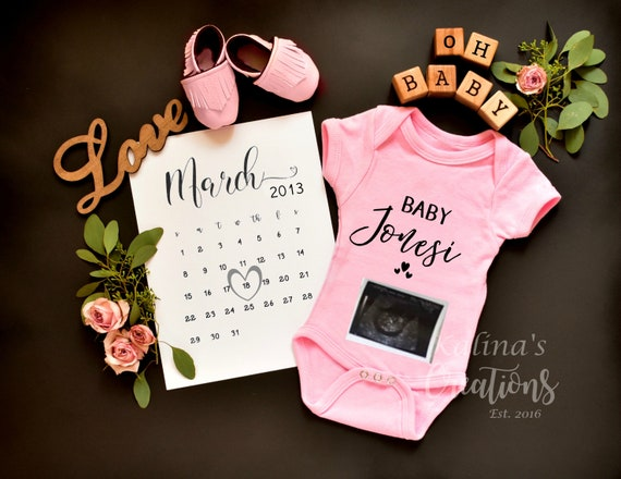 Personalize Girl Gender Reveal - Printable or Social media