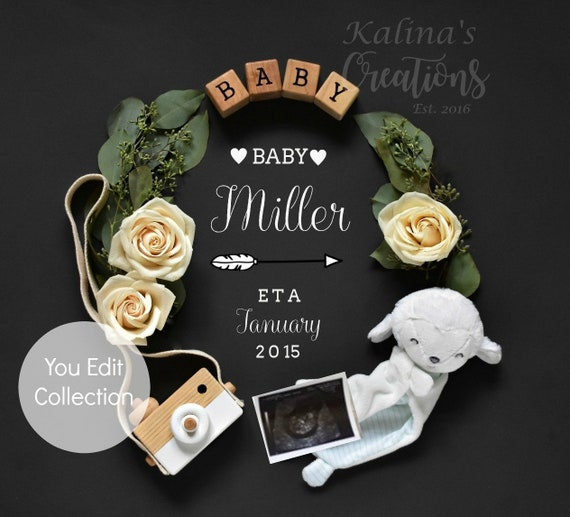 Pregnancy Template Gender Neutral Baby Announcement