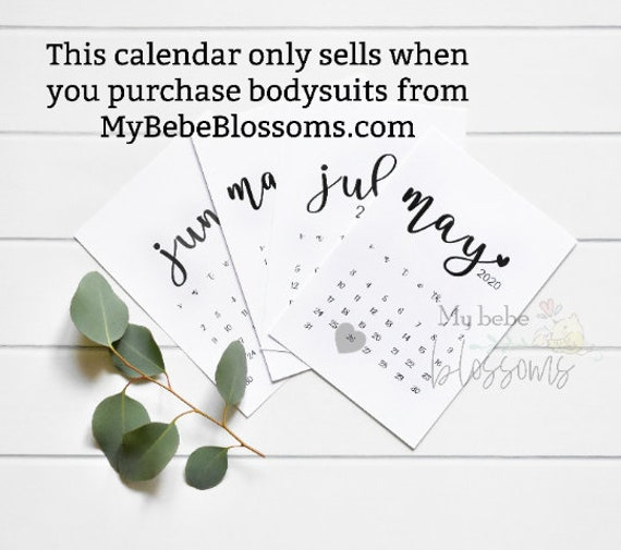 Pregnancy Calendar Announcement