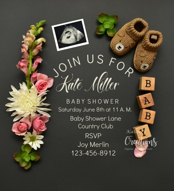 Girl Baby Shower Invite - Pink