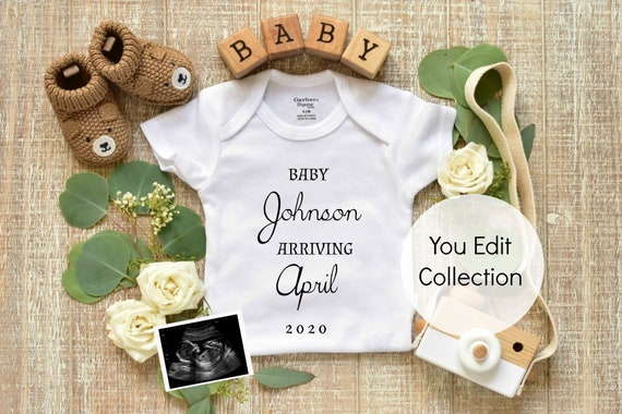 Personalized Pregnancy Announcement - Printable and Social Media