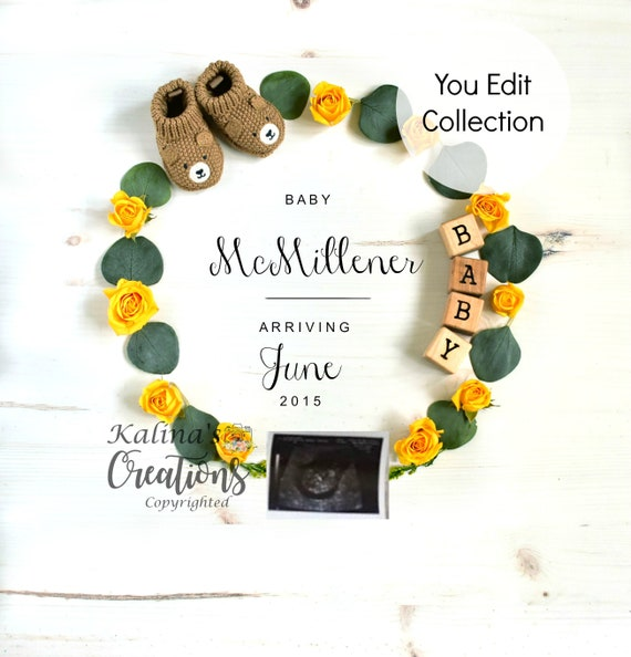 Yellow roses Pregnancy Announcement - Social Media