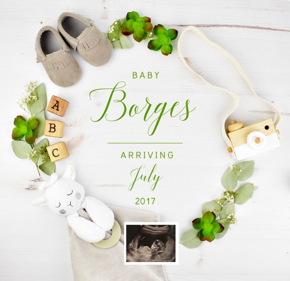 Personalize Pregnancy Announcement for Social Media