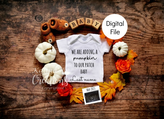 Fall Autumn Baby Announcement Reveal for Social Media Announce