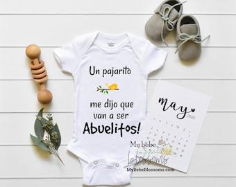 Spanish Pregnancy Announcement New Baby - grandparents Spanish