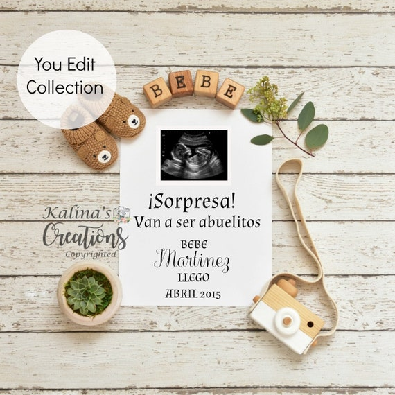 Personalized Pregnancy Template for announcement