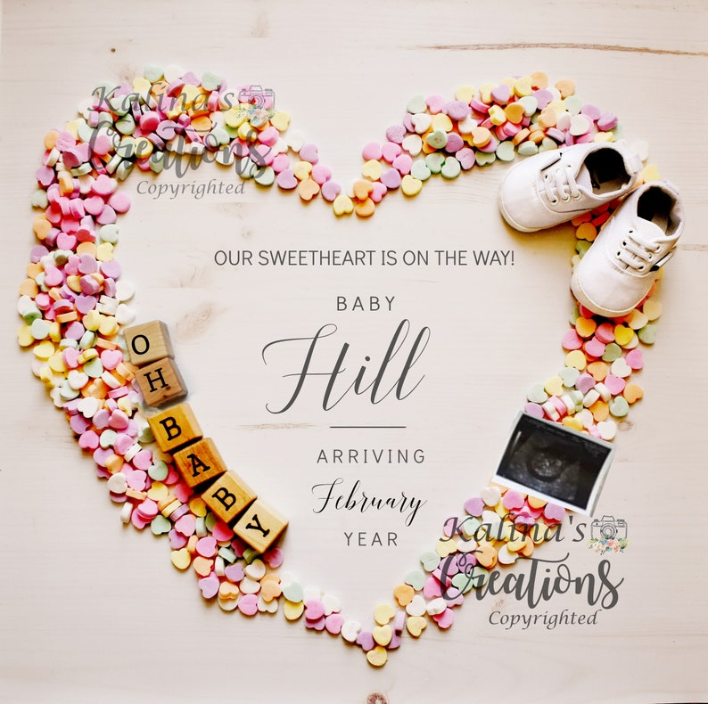 Valentines Pregnancy Announcement for Social Media image 0