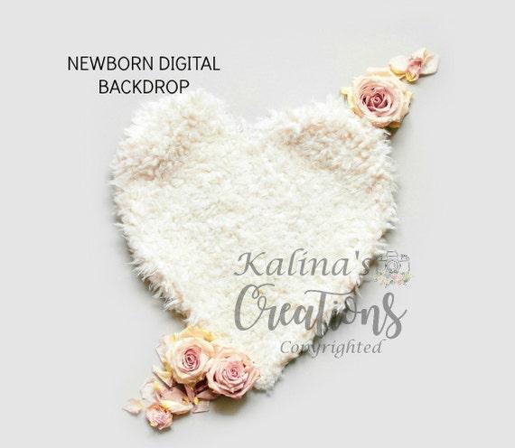 Newborn Digital Backdrop for Girl