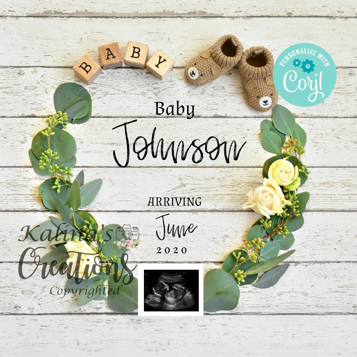 Valentines Pregnancy Announcement Template for Social ...