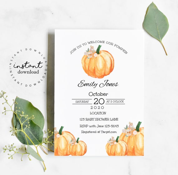 Fall Baby Shower Invitation Template