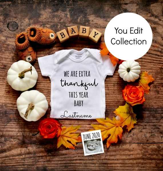 Thanksgiving Baby Announcement Reveal for Social Media