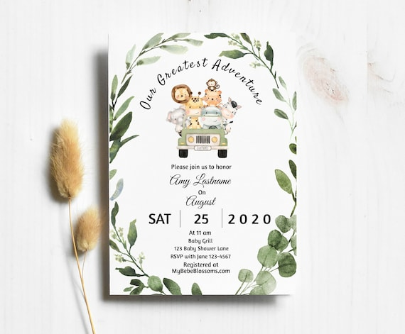 Drive By Baby Shower Invitation Template