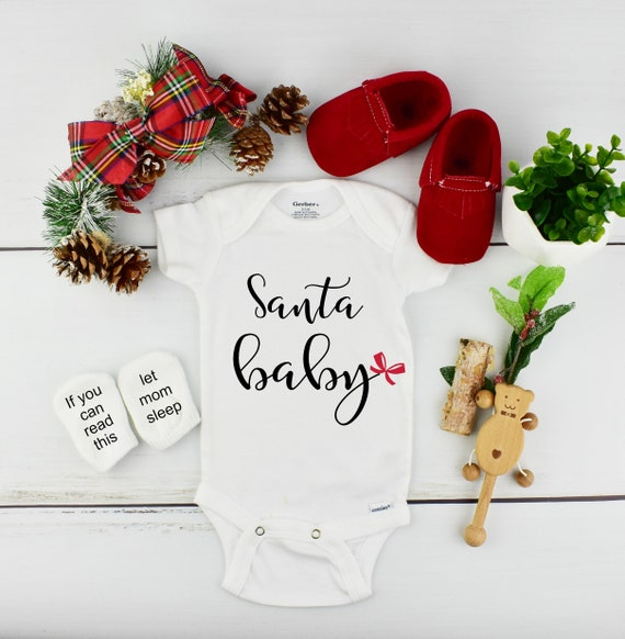 Christmas Pregnancy Reveal with Funny Baby Socks