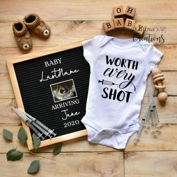 Fertility IVF Pregnancy Announcement Template - pregnancy announcement digital -  virtual