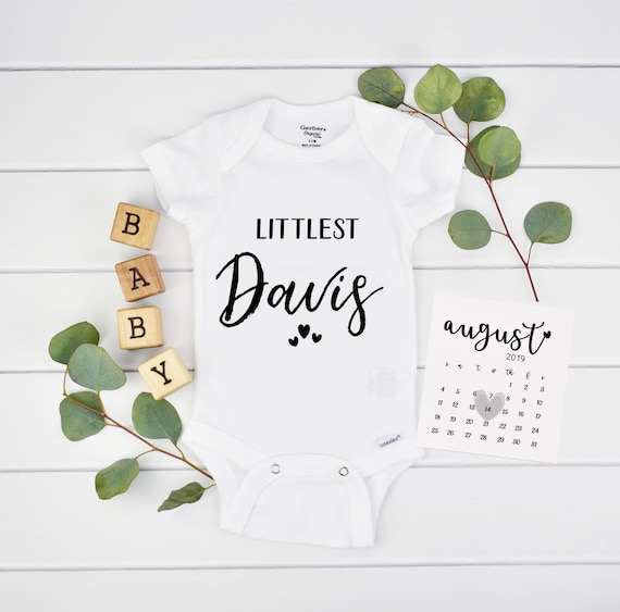 Custom Littlest Onesie for Pregnancy Reveal - Pregnancy Announcement Onesie for New Grandparents
