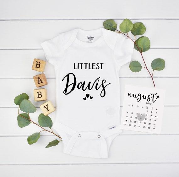 Custom Littlest Onesie for Pregnancy Reveal - Pregnancy Announcement Onesie for New Grandparents