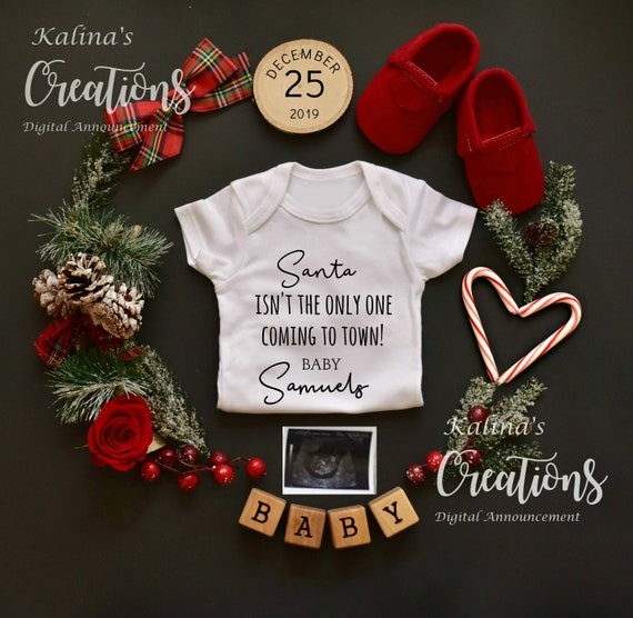 Christmas Pregnancy Announcement Personalized Gift