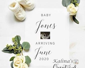 Personalized Pregnancy Announcement - Social Media Announce - Virtual pregnancy Announcement - Simple Pregnancy Announcement