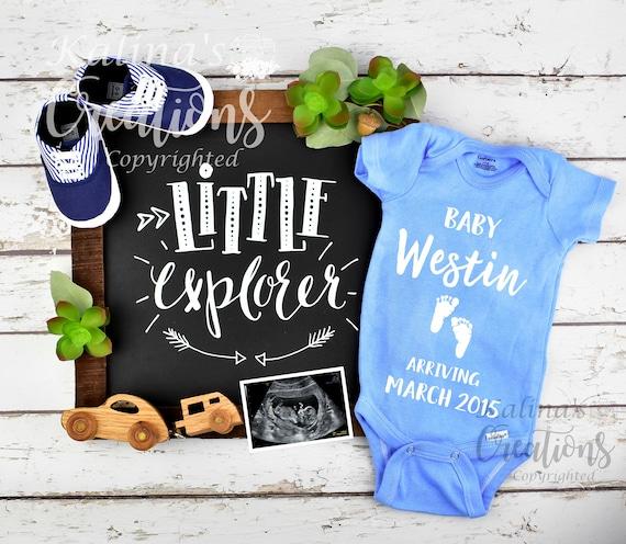 Baby Boy Gender Pregnancy Announcement