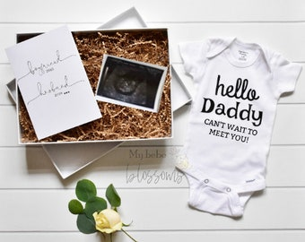 Pregnancy Announcement to Husband - With Card in a box