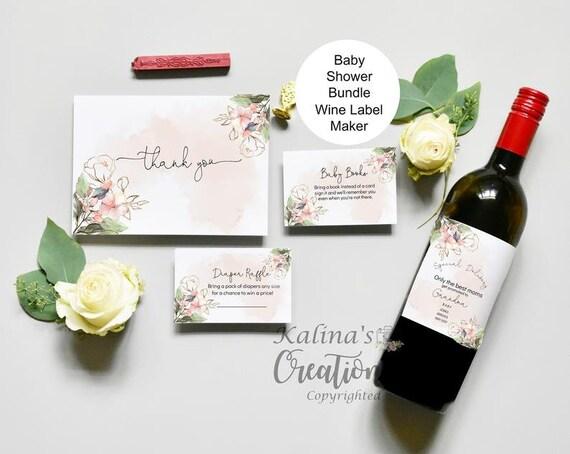 Wine Label Pregnancy Announcement, KC35