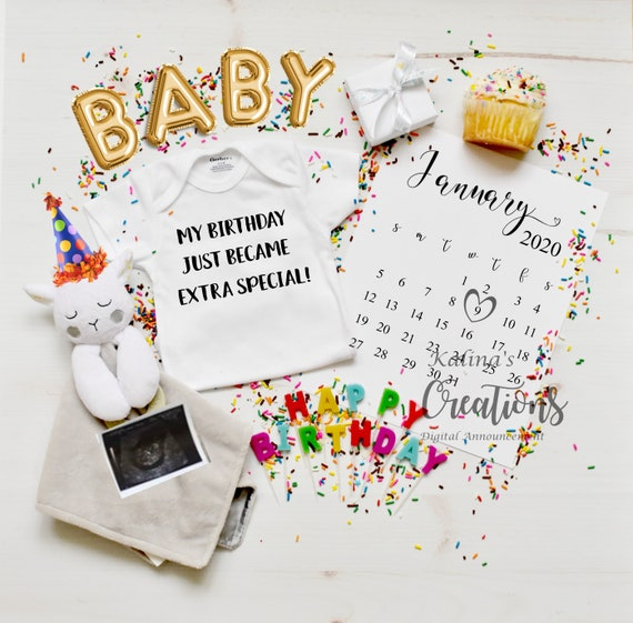 Birthday - Personalized Pregnancy Announcement